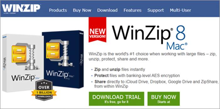WinZip برنامج - برامج اخفاء الملفات و المجلدات : إليك أفضل 10 برامج مجانية